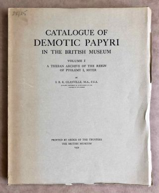 Catalogue of Demotic Papyri in the British Museum. Vol. I: A Theban Archive of the Reign of...[newline]M2599b.jpeg