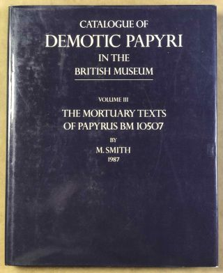 Catalogue of Demotic Papyri in the British Museum. Vol. III: The Mortuary Texts of Papyrus BM...[newline]M2600a.jpg