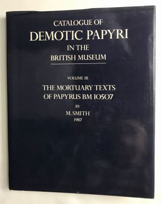 Catalogue of Demotic Papyri in the British Museum. Vol. III: The Mortuary Texts of Papyrus BM...[newline]M2600c.jpg