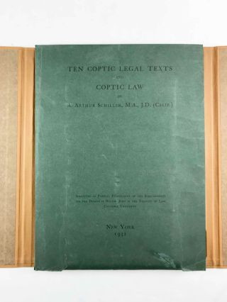 Ten Coptic Legal Texts. Edited with translation, commentary, and indexes together with an introduction.[newline]M2644c-01.jpg