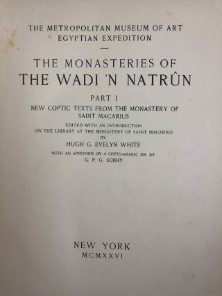 The monasteries of the Wadi 'n Natrun. Part I: New coptic texts from the monastery of Saint Macarius. Part II: The history of the monasteries of Nitria and of Scetis.[newline]M2747a-03.jpg