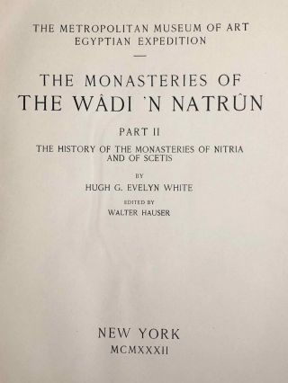 The monasteries of the Wadi 'n Natrun. Part I: New coptic texts from the monastery of Saint Macarius. Part II: The history of the monasteries of Nitria and of Scetis.[newline]M2747a-22.jpg