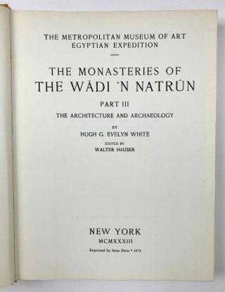 The monasteries of the Wadi 'n Natrun. Part III: The architecture and archaeology. Edited by Walter Hauser[newline]M2749a-03.jpeg
