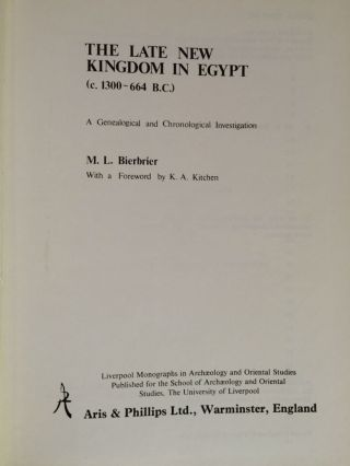 The Late new kingdom in Egypt. Liverpool monographs in archaeology and oriental studies....[newline]M2857a.jpg