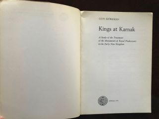 Kings at Karnak, a study of the treatment of the monuments of royal predecessors in the early New Kingdom. Acta universitatis upsaliensis boreas[newline]M2862a-02.jpg
