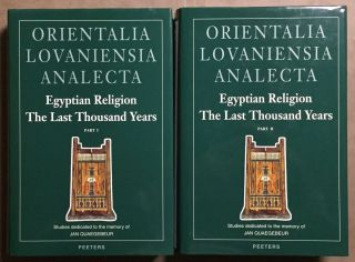 Egyptian religion. The last thousand years. Vol. I & II (complete set). Studies dedicated to the...[newline]M2964.jpg
