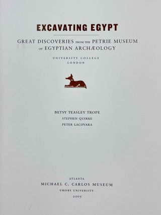Excavating Egypt. Great discoveries from the Petrie museum of Egyptian archaeology[newline]M2975-01.jpeg