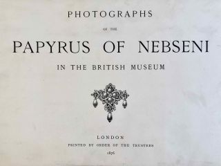 Photographs of the papyrus of Nebseni in the British Museum[newline]M3273a-02.jpeg