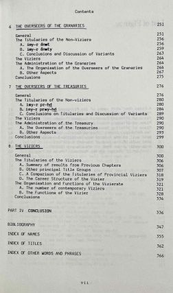 The administration of Egypt in the Old Kingdom. The highest titles and their holders.[newline]M3407d-04.jpeg