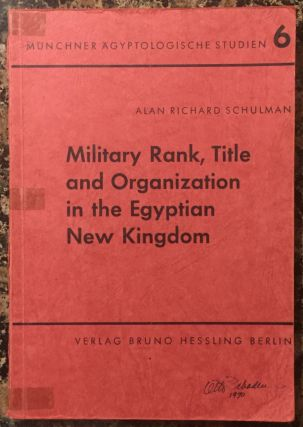 Military rank, title und organization in the Egyptian New Kingdom. SCHULMAN Alan Richard[newline]M3419.jpg