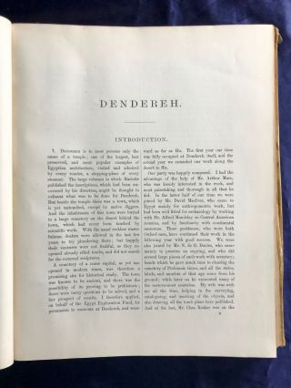 Dendereh. 1898. Edition with extra-plates.[newline]M3504-05.jpg