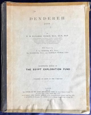 Dendereh. 1898. Edition with extra-plates. PETRIE William M. Flinders[newline]M3504.jpg