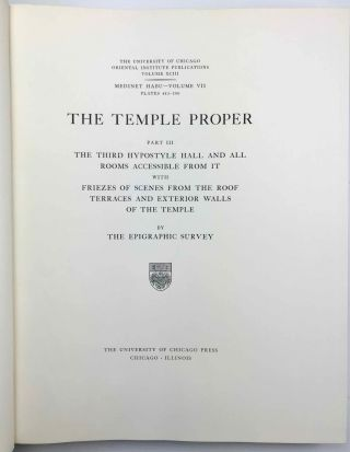 Medinet Habu. The Epigraphic survey. Vol. VII: The temple proper. Part III: The third hypostyle hall and all rooms accessible from it, with friezes of scenes from the roof terraces and exterior walls of the temple[newline]M3530b-02.jpg