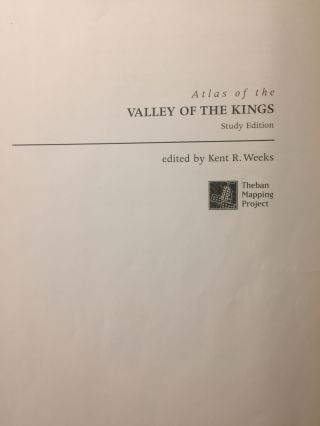 Atlas of the Valley of the Kings: The Theban Mapping Project Part 1 (study edition)[newline]M3616a-01.jpg