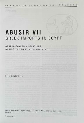 Greek imports in Egypt. Graeco-Egyptian relations during the first millenium B.C.[newline]M3659-01.jpeg