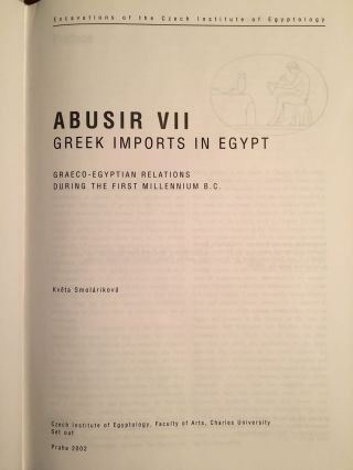 Greek imports in Egypt. Graeco-Egyptian relations during the first millenium B.C.[newline]M3659a-04.jpg