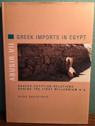 Greek imports in Egypt. Graeco-Egyptian relations during the first millenium B.C. VERNER...[newline]M3659a.jpg