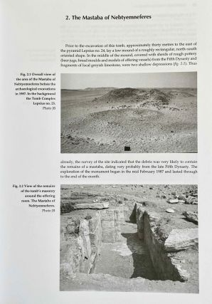 Minor tombs in the royal necropolis. The mastabas of Nebtyemneferes and Nakhtsare, Pyramid complex Lepsius no. 24 and Tomb complex Lepsius no 25.[newline]M3664-09.jpeg