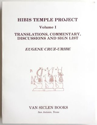 Hibis Temple project. Vol. I: Translations, commentary, discussions and sign list. Vol. II: The demotic graffiti of Gebel Teir. Vol. III: Graffiti from the temple precinct (complete set)[newline]M3787c-01.jpg