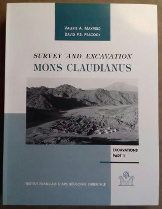 Mons Claudianus, Survey and Excavation 1987-1993. TII. Excavations: part 1. MAXFIELD...[newline]M3813b.jpg