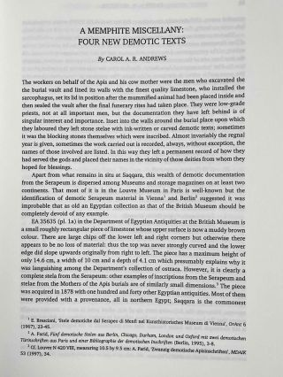 Acts of the seventh international conference of Demotic Studies. Copenhagen, 23-27 august 1999.[newline]M3822a-05.jpeg