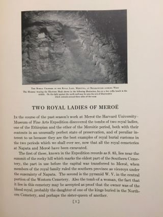 Two royal ladies of Meroe. MFA Communications to the trustees, VII. Report on some results of excavations by the Harvard University - MFA Egyptian expedition during the season 1922-23.[newline]M3872a-02.jpg
