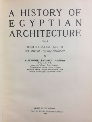 A History of Egyptian Architecture, Volume I: From the earliest times to the end of the Old Kingdom. Vol.II : The First Intermediate Period, the Middle Kingdom, and the Second Intermediate Period. Vol. III: The Empire (the New Kingdom). From the Eighteenth Dynasty to the End of the Twentieth Dynasty 1580-1085 B.C. (Complete set)[newline]M3900b-03.jpg