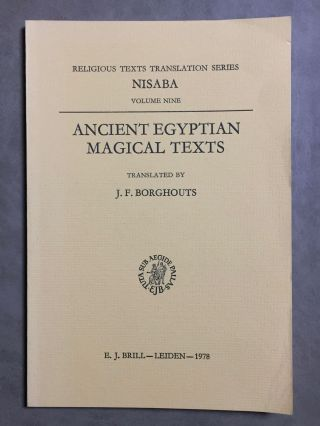 Ancient Egyptian magical texts. BORGHOUTS J. F.[newline]M3905b.jpg