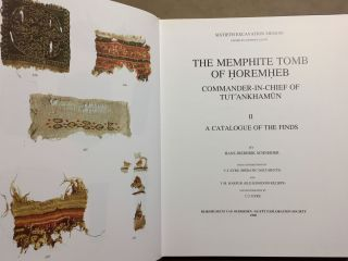 The Memphite Tomb of Horemheb commander-in-chief of Tut'ankhamun. Part II: A catalogue of the finds[newline]M3907d-01.jpg