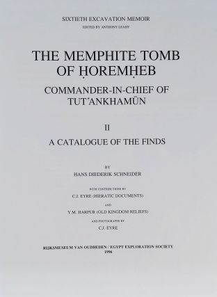 The Memphite Tomb of Horemheb commander-in-chief of Tut'ankhamun. Part II: A catalogue of the finds[newline]M3907f-02.jpeg