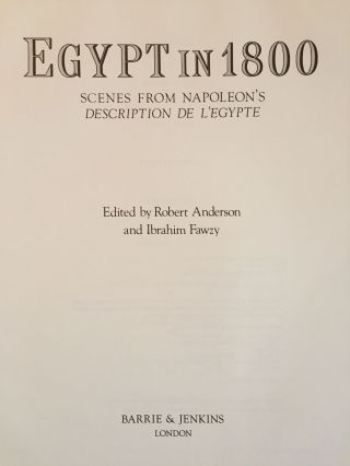 Egypt in 1800. Scenes from Napoleon's Description de l'Egypte. ANDERSON Robert - FAWZY Ibrahim[newline]M3925-01.jpg