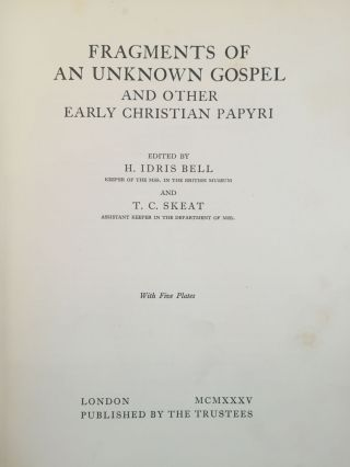 Fragments of an unknown gospel and other early Christian papyri[newline]M3936-03.jpg
