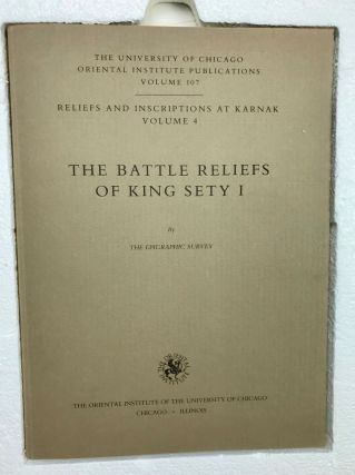 Reliefs and inscriptions at Karnak. The Epigraphic Survey. Volume IV: The battle reliefs of King Sety I[newline]M4020-10.jpg
