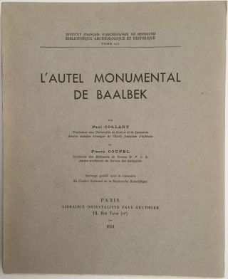 L'autel monumental de Baalbek. COLLART Paul - COUPEL Pierre[newline]M4024a.jpg