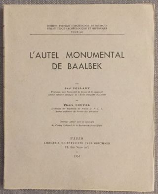 L'autel monumental de Baalbek. COLLART Paul - COUPEL Pierre[newline]M4024c.jpg