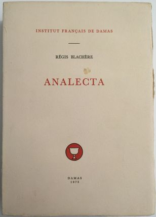 Analecta. BLACHERE Régis[newline]M4056.jpg