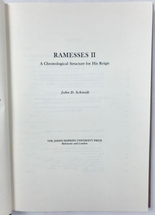 Ramesses II. A Chronological Structure for His Reign.[newline]M4132a-01.jpg