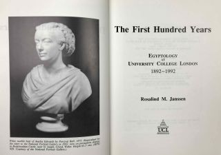 The first hundred years Egyptology at University College London 1892-1992[newline]M4261a-01.jpeg