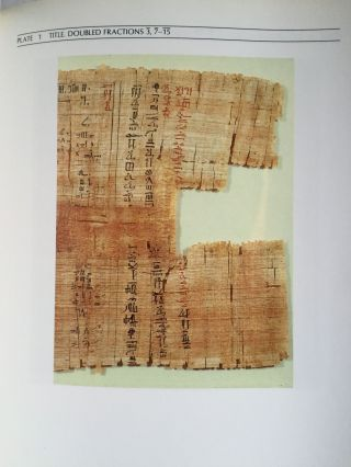 The Rhind mathematical papyrus. An ancient Egyptian text.[newline]M4364-05.jpg