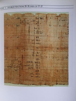 The Rhind mathematical papyrus. An ancient Egyptian text.[newline]M4364-06.jpg