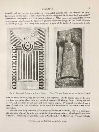 Carchemish. Report on the Excavations at Jerablus on Behalf of the British Museum. Vol. I: Introductory. Vol. II: The town defences. Vol. III: The excavations in the inner town. The Hittite inscriptions (complete set)[newline]M4399e-08.jpg
