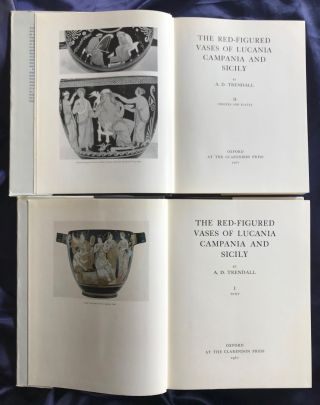 The red-figured vases of Lucania, Campania and Sicily. 2 volumes (complete set)[newline]M4402-02.jpg