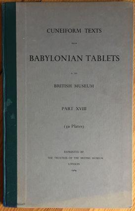 Cuneiform Texts from Babylonian Tablets, &c. in the British Museum. Volume XVIII. AAF - Museum - British Museum.[newline]M4458n.jpg