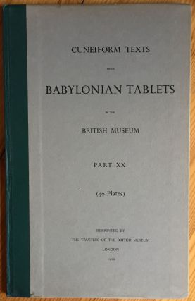 Cuneiform Texts from Babylonian Tablets, &c. in the British Museum. Volume XX. AAF - Museum - British Museum.[newline]M4458q.jpg