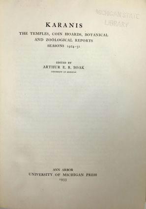 Karanis: The Temples, Coin Hoards, Botanical and Zoological Reports, Seasons 1924-31[newline]M4569-04.jpeg