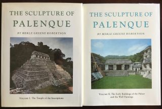 The Sculpture of Palenque. 4 volumes. Volume I: The Temple of the Inscriptions. Volume II: The Early Buildings of the Palace and the Wall Paintings. Volume III: The late Buildings of the Palace. Volume IV: The Cross Group, The North Group, The Olvidado and Other Pieces (complete set)[newline]M4570-01.jpg