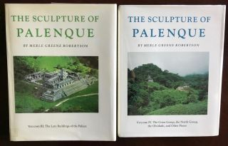 The Sculpture of Palenque. 4 volumes. Volume I: The Temple of the Inscriptions. Volume II: The Early Buildings of the Palace and the Wall Paintings. Volume III: The late Buildings of the Palace. Volume IV: The Cross Group, The North Group, The Olvidado and Other Pieces (complete set)[newline]M4570-02.jpg