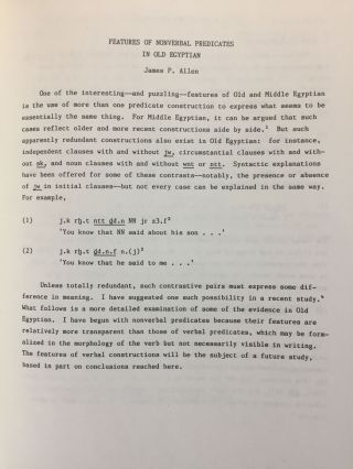 Crossroad. Chaos or the beginning of a new paradigm: papers from the Conference on Egyptian Grammar, Helsingor, 28-30 May 1986.[newline]M4585-05.jpg