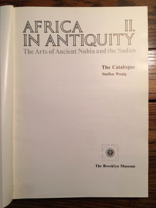 Africa in Antiquity: The Arts of Ancient Nubia and the Sudan. 2 volumes (complete set)[newline]M4625-12.jpg