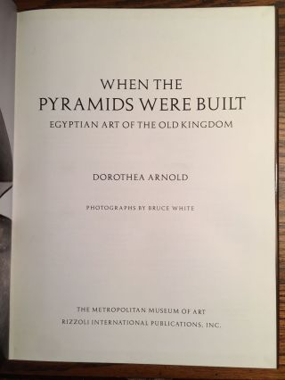 When the Pyramids were Built: Egyptian Art of the Old Kingdom[newline]M4631-02.jpg